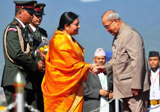 pranab mukherjee and bidya